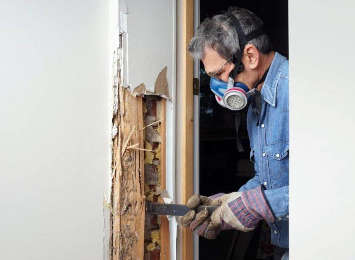 Scratching the Pocket Door Stop