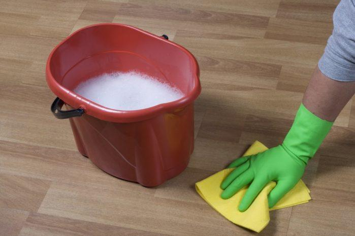 cleaning-equipment-and-wooden-parquet