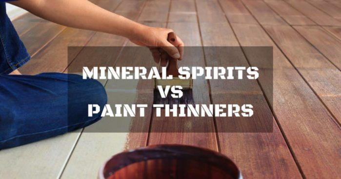 Breaking down the difference between Mineral Spirits and Paint Thinners – Including reviews and a recommendation