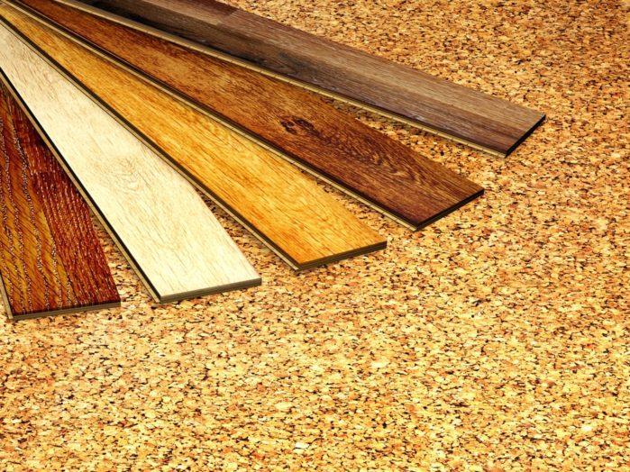 New oak parquet cork flooring texture