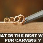 What is the best wood for carving? Here are 4 of the best ones for beginners