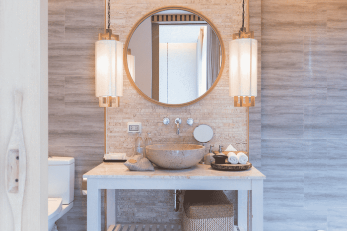 How to install a bathroom light fixture without a junction box