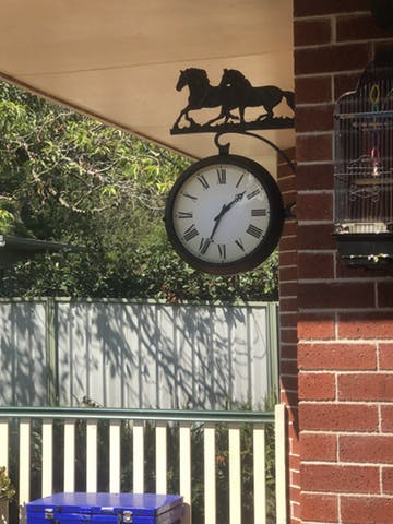 THERMOMETER OUTDOOR WALL CLOCK