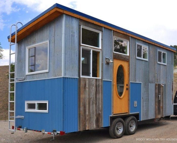 Teal on Wheels house