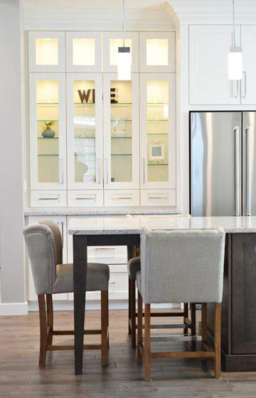 Fridge Within the Dining Space