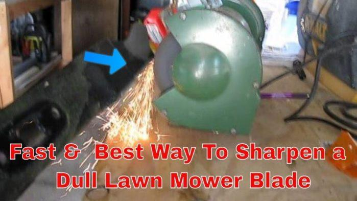 Sharpen Blades on Lawn Mower
