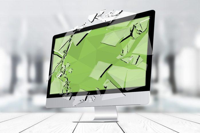 broken screen monitor