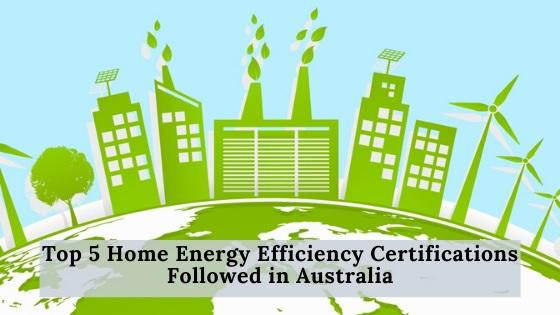 home energy efficiency certifications