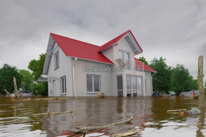 house in flood