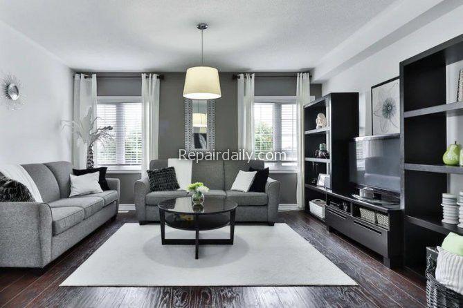 black themed living room