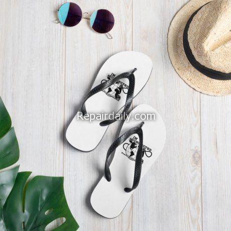 flip flops sunglass hat