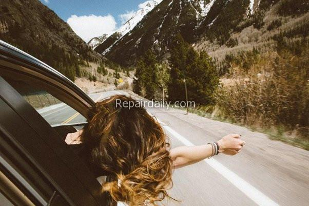 driving car on hills