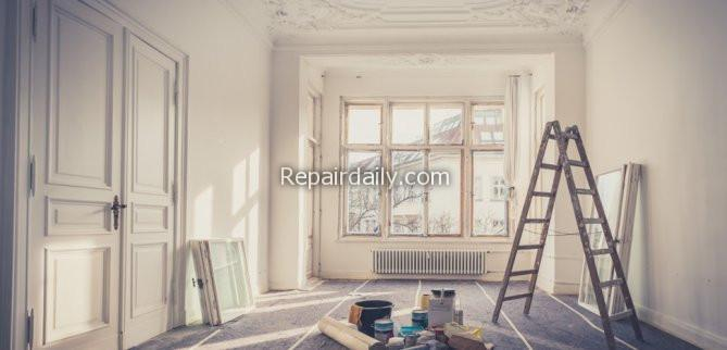 white interior painting