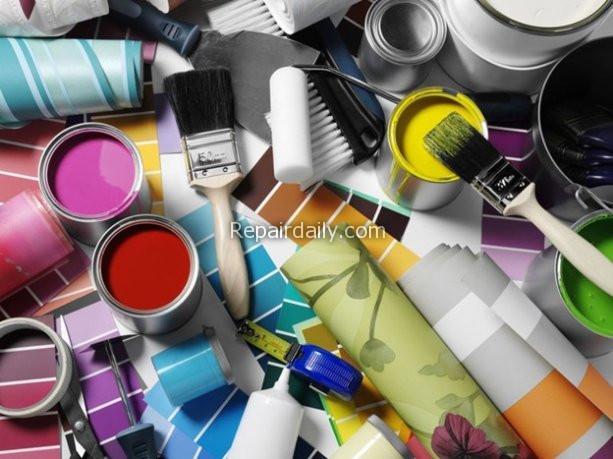 diy paints wallpapers brush