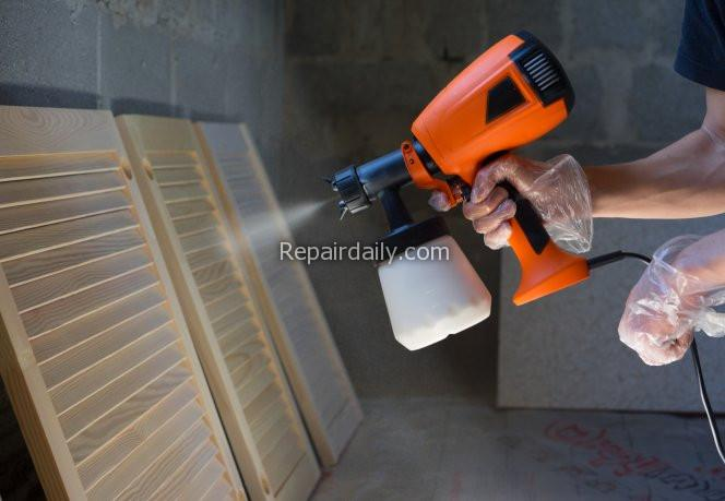 How to Stain a Deck with a Sprayer - shutterstock_714427963