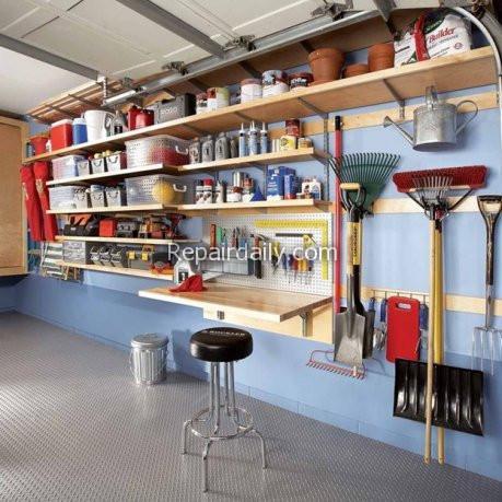 garage shelves tools