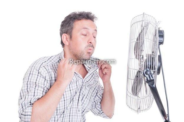man fan summer hot