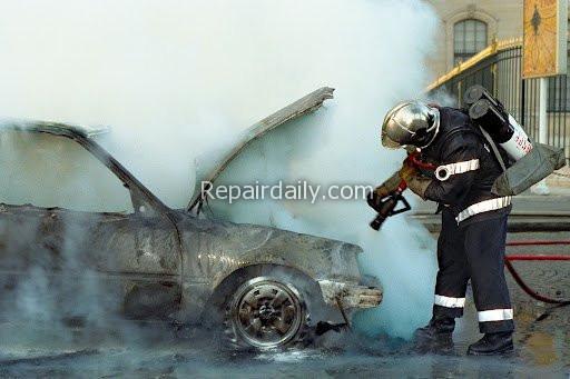 car overheat accident