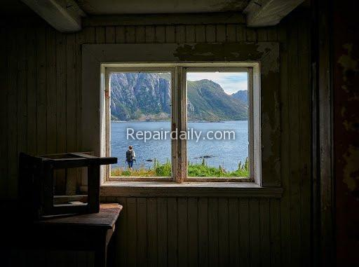 river view through window