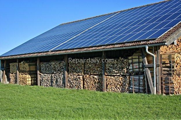 shed solar woods storage