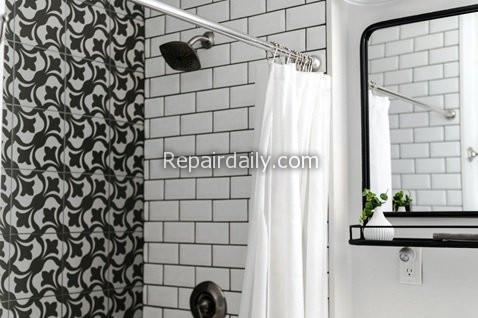 shower curtain mirror